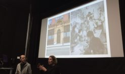 Rachel Lichtenstein and Dr Duncan Hay at Mapping the Jewish East End.